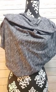 Lululemon Athletica Vinyasa Scarf Wrap Gray/Black